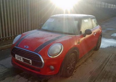 BMW MINI 2017 F56 COOPER 1.5 6 SPEED MANUAL CHILI RED FOR PARTS. REFERENCE CAR NO. 1472.