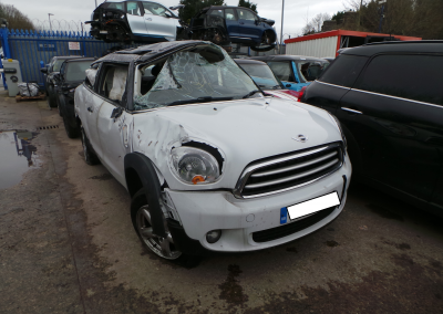 BMW MINI 2013 R61 COOPER PACEMAN 1.6 6 SPEED MANUAL LIGHT WHITE FOR PARTS. REFERENCE CAR NO. 1463.