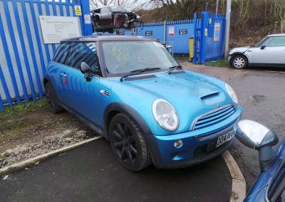 BMW MINI 2004 R53 COOPER S 1.6 6 SPEED MANUAL ELECTRIC BLUE METALLIC FOR PARTS. REFERENCE CAR NO. 1490.