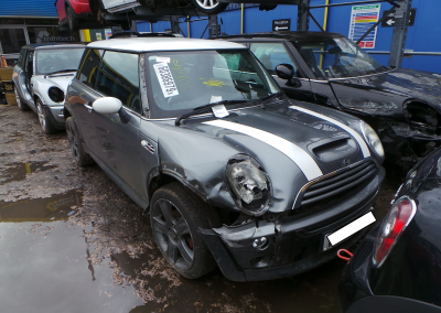 BMW MINI 2005 R53 COOPER S 1.6 6 SPEED MANUAL DARK SILVER METALLIC FOR PARTS. REFERENCE CAR NO. 1491.