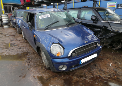 BMW MINI 2008 R56 ONE 1.4 6 SPEED MANUAL LIGHTING BLUE METALLIC BREAKING FOR PARTS. REFERENCE CAR NO. 1514.