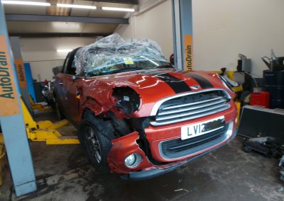 BMW MINI 2012 R57 LCI ONE CONVERTIBLE 1.6 6 SPEED MANUAL SPICE ORANGE METALLIC BREAKING FOR PARTS REFERENCE CAR NO. 1521.