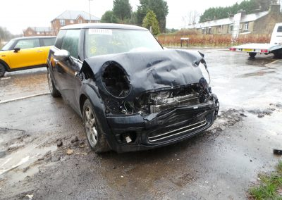 BMW MINI 2008 R56 ONE 1.4 6 SPEED MANUAL ASTRO BLACK METALLIC BREAKING FOR PARTS. REFERENCE CAR NO. 1498.