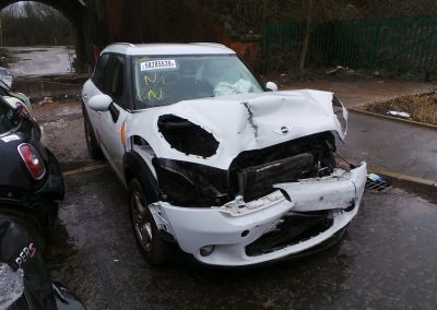 BMW MINI 2011 R60 COUNTRYMAN COOPER DIESEL 1.6 6 SPEED MANUAL LIGHT WHITE BREAKING FOR PARTS. REFERENCE CAR NO. 1524.