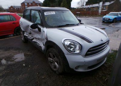 BMW MINI 2016 R60 COUNTRYMAN COOPER DIESEL 1.6 6 SPEED MANUAL LIGHT WHITE BREAKING FOR PARTS. REFERENCE CAR NO. 1525.