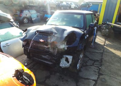BMW MINI 2007 R56 COOPER S 1.6 6 SPEED MANUAL ASTRO BLACK METALLIC BREAKING FOR PARTS. REFERENCE CAR NO. 1505.