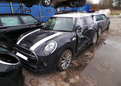 BMW MINI 2015 F56 COOPER S 2.0 6 SPEED MANUAL THUNDER GREY METALLIC BREAKING FOR PARTS. REFERENCE CAR NO. 1551.